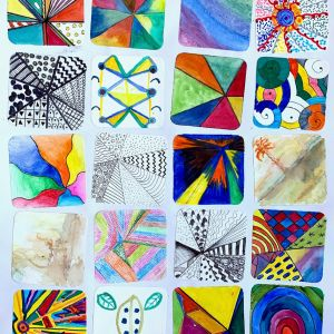 Wobbly Squares by Brocton and Chebsey Art Group.