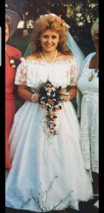 Lynn on her wedding day