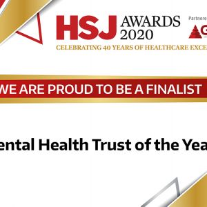 HSJ Awards 2020 - MPFT shortlisted for Mental Health Trust of the Year