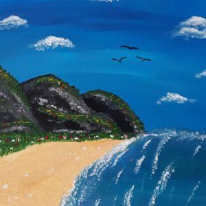 Vicarious Beach by Lynda Cliff