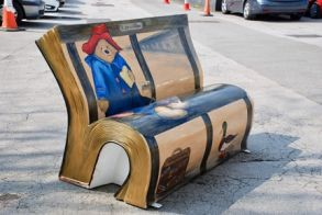 Paddington BookBench comes to Haywood Hospital